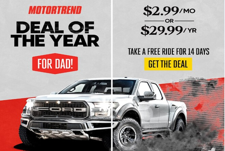 Get a Deal: MotorTrend for Father's Day