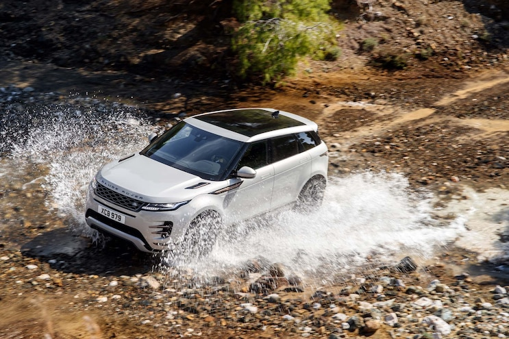 First Drive 2020 Range Rover Evoque Through Water