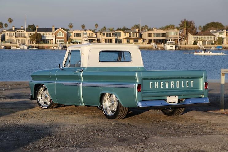1964 Chevy C10 Huntington Beach Blues Rear 3q