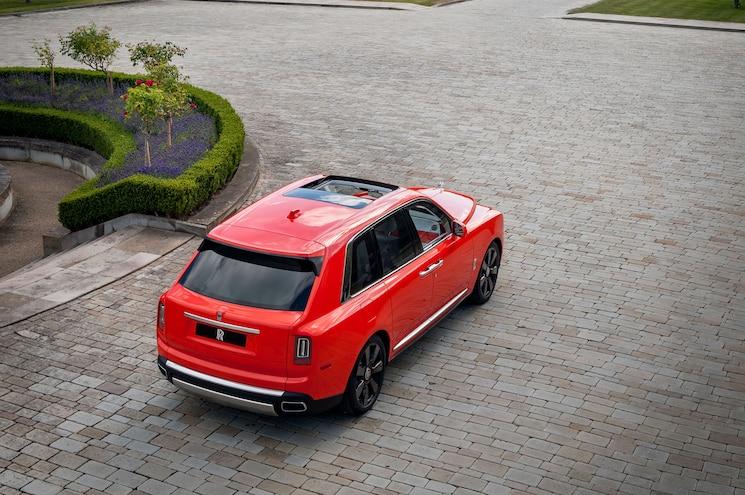 2019 Rolls Royce Cullinan In Fux Orange Rear Quarter 01
