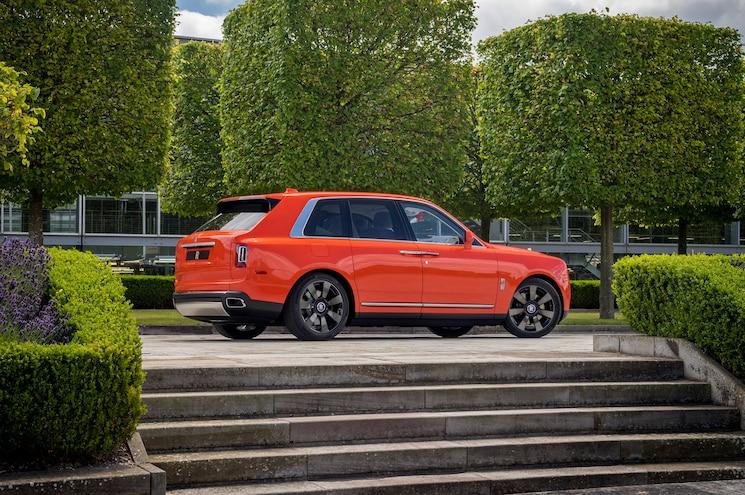 2019 Rolls Royce Cullinan In Fux Orange Rear Quarter 03
