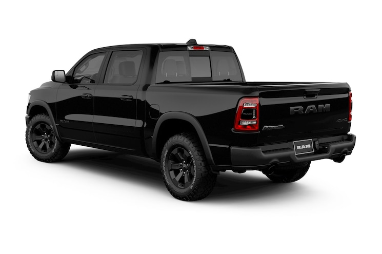 2020 Ram 1500 Rebel Black Appearance Group Rear Quarter