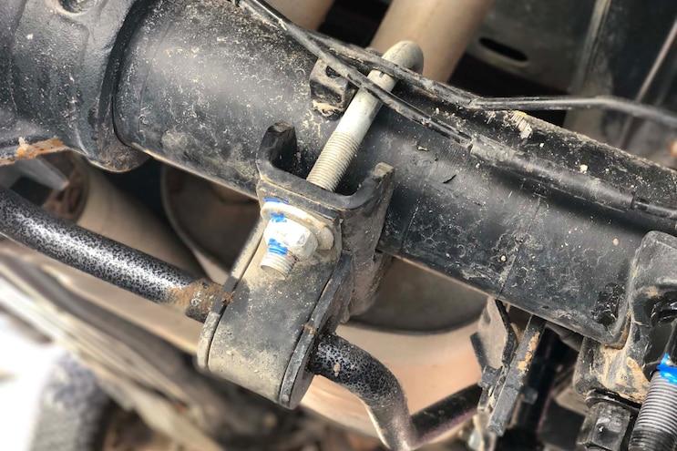 Hellwig Ford F 150 Raptor Rear Sway Bar Install 009