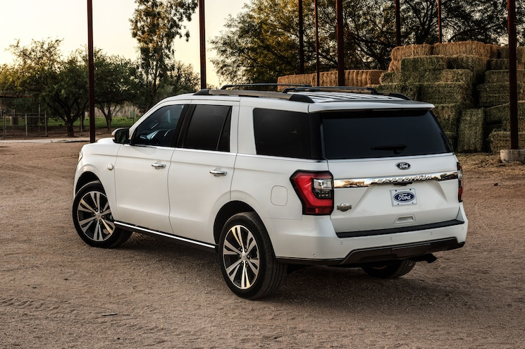 2020 Ford Expedition King Ranch Exterior Rear Quarter 01