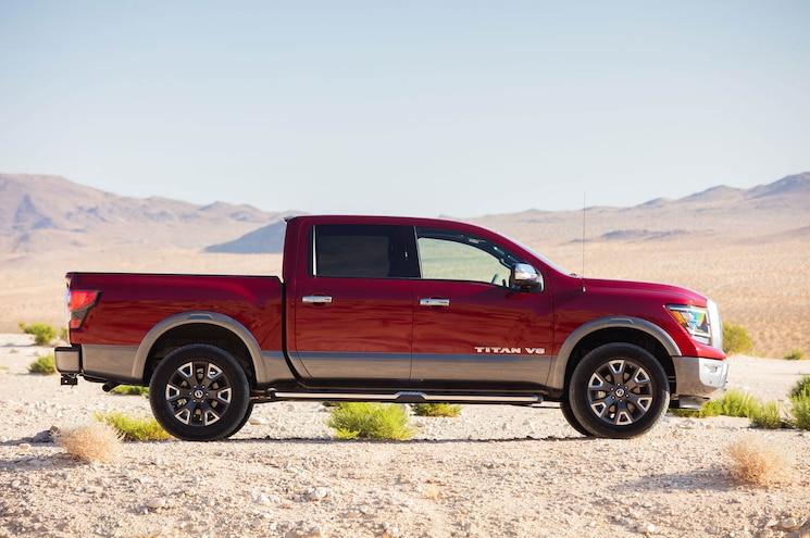 2020 Nissan Titan Platinum Reserve Exterior Side Profile 01