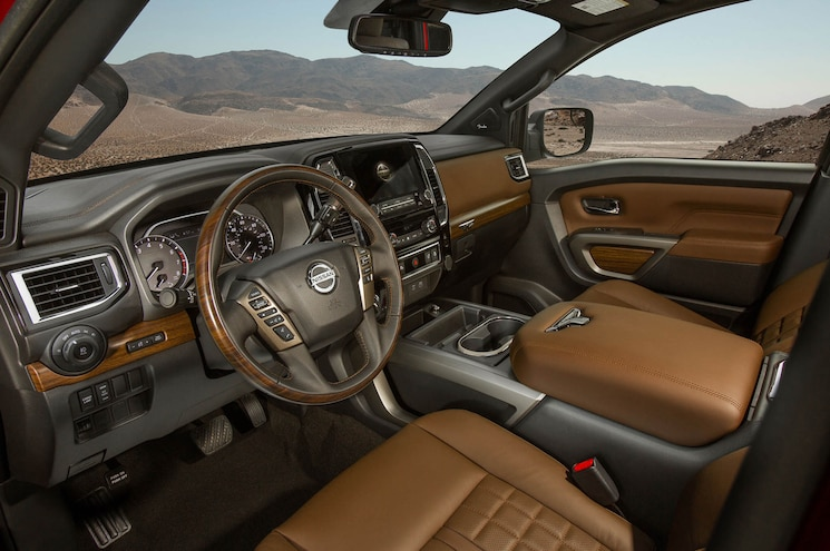2020 Nissan Titan Platinum Reserve Interior Front Cabin