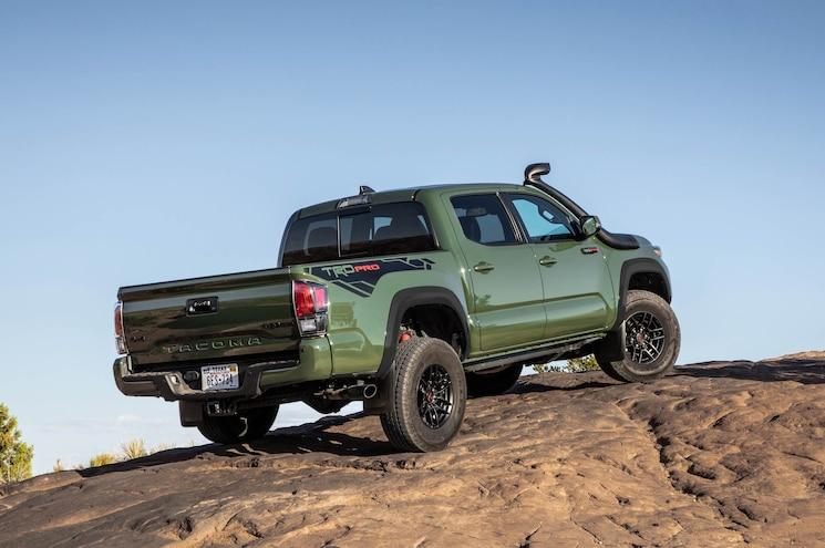 2020 Toyota Tacoma Trd Pro Army Green Rear Quarter 01