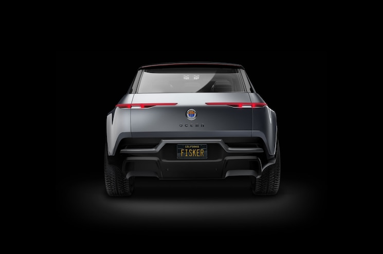 2021 Fisker Ocean Rear View Rendering