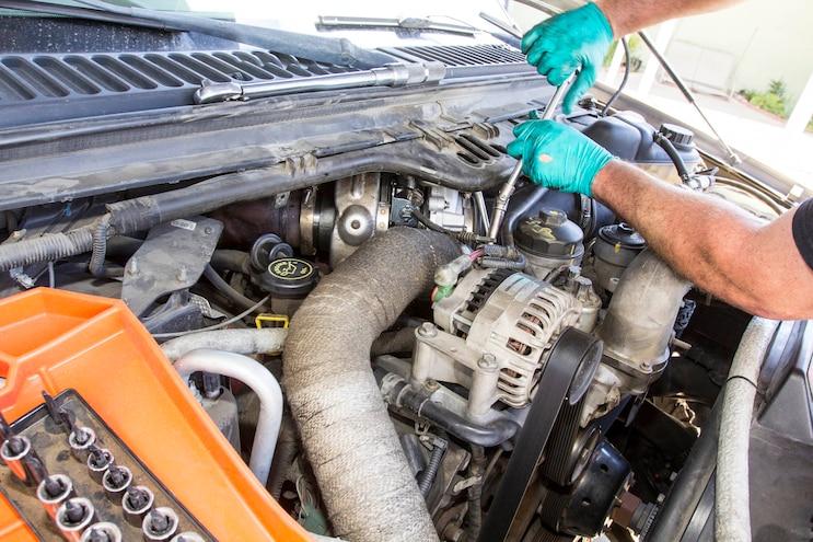 Ford 6 0l Power Stroke Garrett Powermax Turbo Install 003