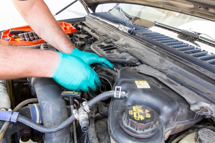 Ford 6 0l Power Stroke Garrett Powermax Turbo Install 004