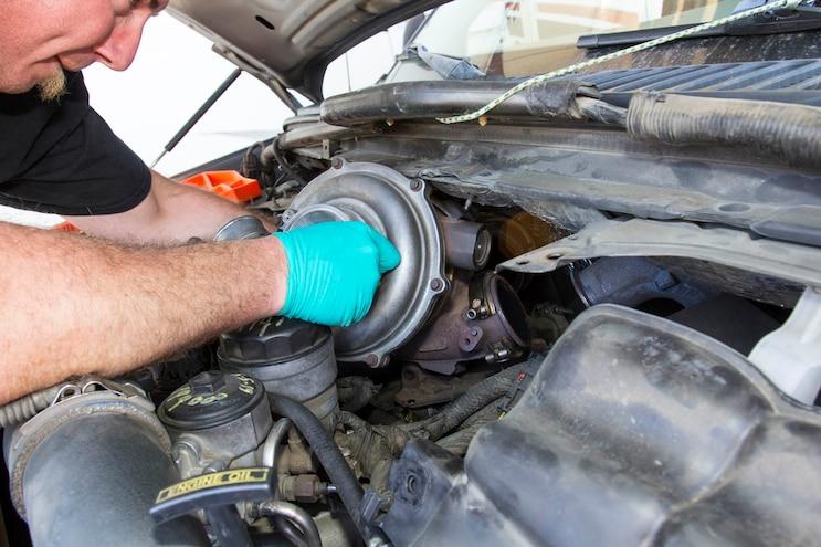 Ford 6 0l Power Stroke Garrett Powermax Turbo Install 007