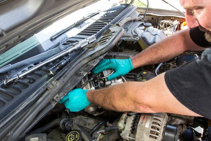Ford 6 0l Power Stroke Garrett Powermax Turbo Install 018