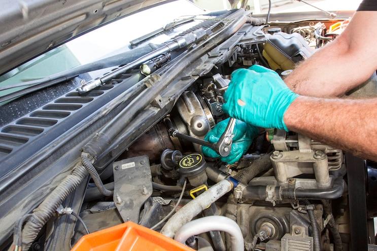 Ford 6 0l Power Stroke Garrett Powermax Turbo Install 019
