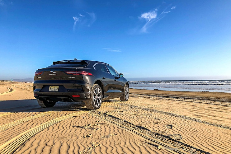 Road Test 2019 Jaguar I PACE Rear 3q
