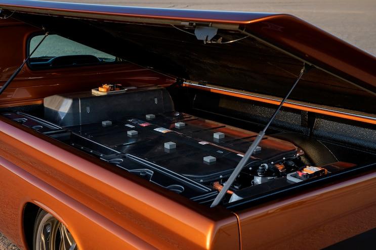 2019 SEMA Chevrolet E 10 Concept Batteries Bed