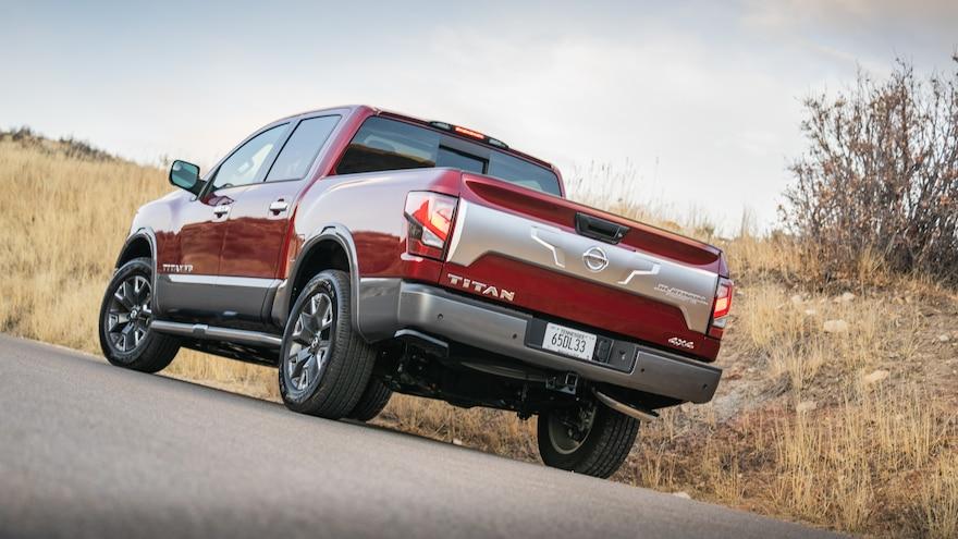 2020 Nissan Titan First Drive Platinum Rear