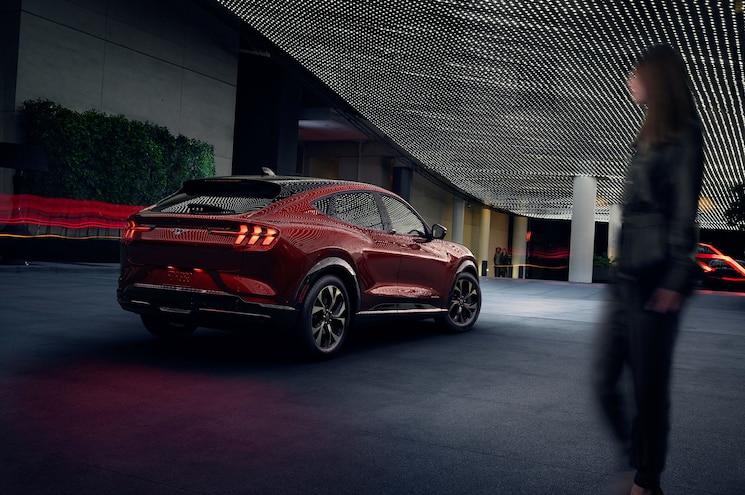 2021 Ford Mustang Mach E Exterior Rear Quarter 02
