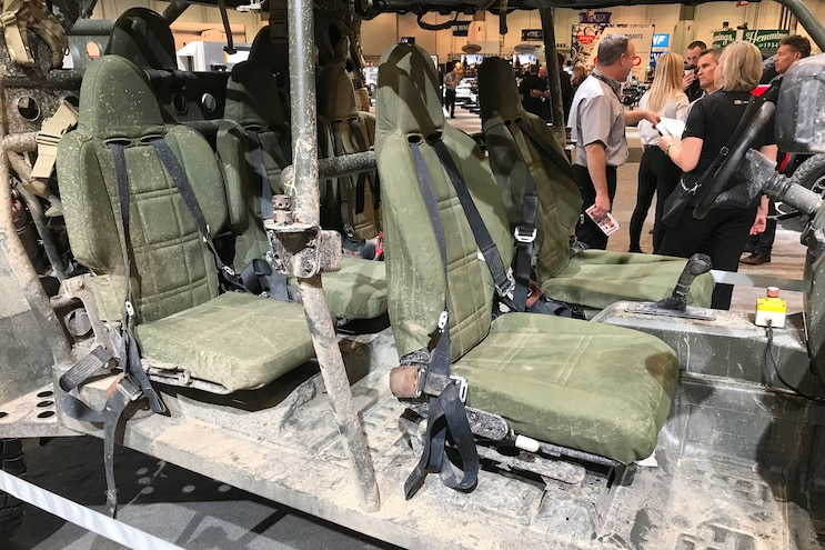 Chevrolet Colorado Zr2 Based Infantry Squad Vehicle Interior