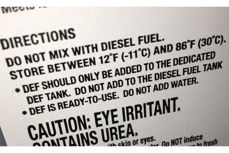 008 Winterize Diesel Exhaust Fluid Recommended Temperature