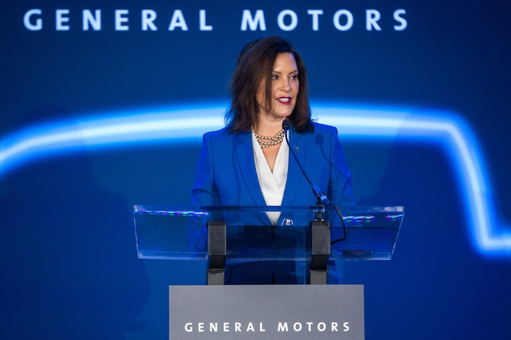 Detroit Hamtramck Electric Vehicle Announcement Michigan Governor Gretchen Whitmer
