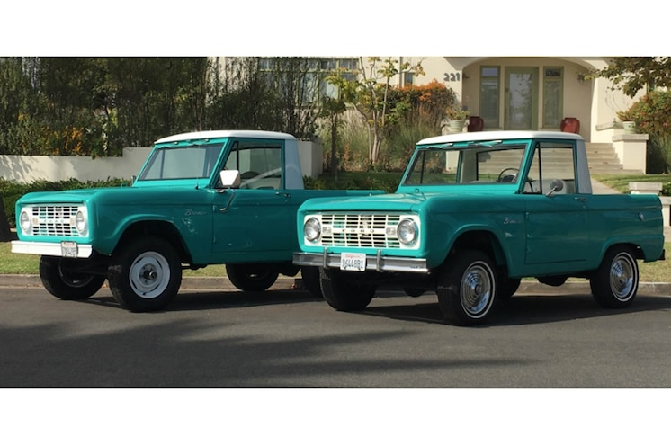 Valentine's Day Gift Idea: Pair of 1966 Ford Bronco SUVs For Sale