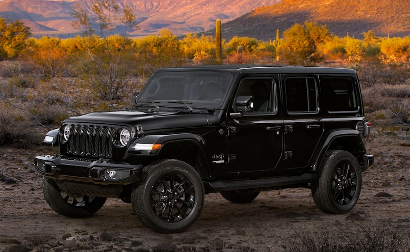 2020 Jeep Wrangler High Altitude Black Driver Side 11