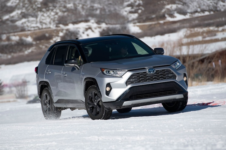 Hooning the 2020 Toyota RAV4 TRD Off-Road and Hybrid in the Snow