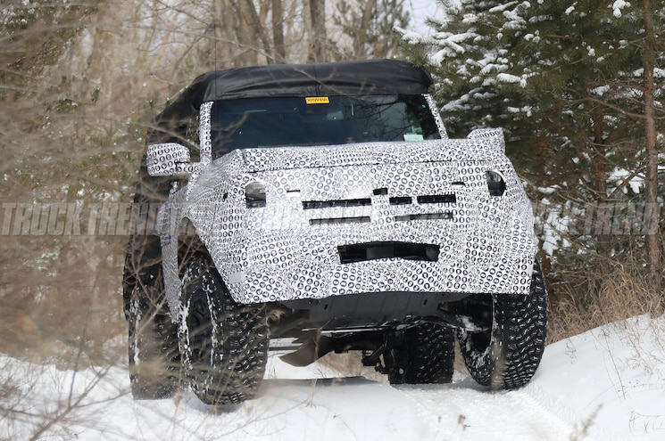 2021 Ford Bronco Two-Door Caught Playing in the Snow