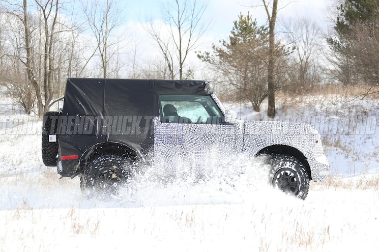 2021 Ford Bronco Spied Exterior Side Profile