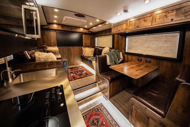 EarthRoamer XV HD Overland Camper Truck Interior Dinette