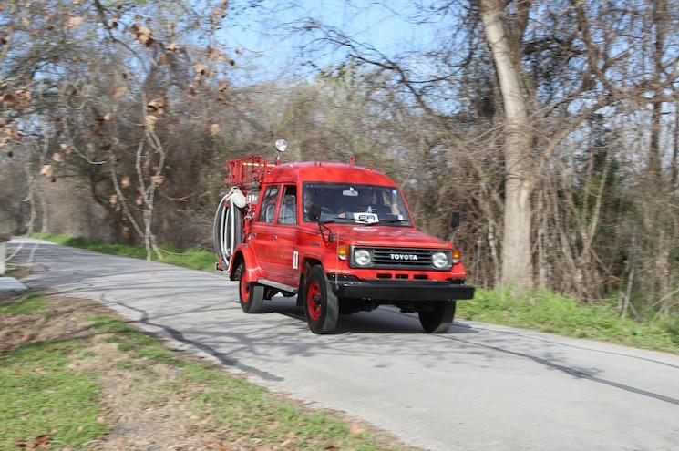 Radwood Austin Toyota Land Cruiser 70 Series Fire Engine 01