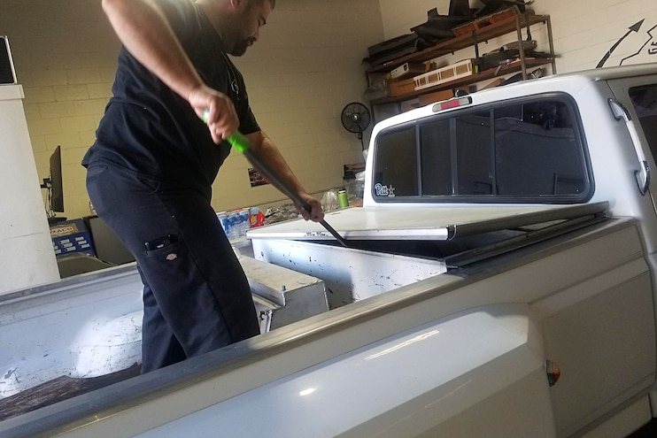 003 Prep Truck Bed For Line X Coating 3