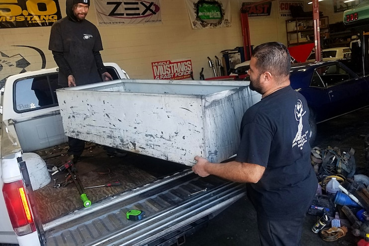 005 Prep Truck Bed For Line X Coating 5