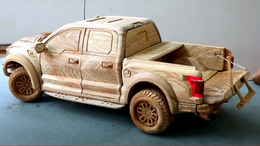 We Wood If We Could! Check Out This Astonishing Wooden Ford Raptor!