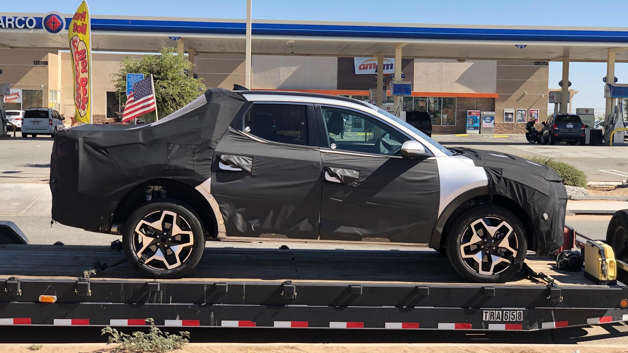 2022 Hyundai Santa Cruz Unibody Pickup Spy Shots