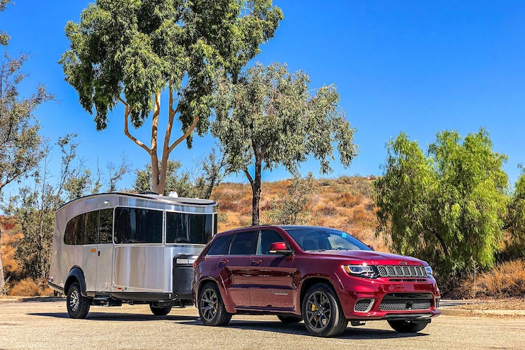 We Tow an Airstream Basecamp With a 707-Horsepower Grand Cherokee Trackhawk