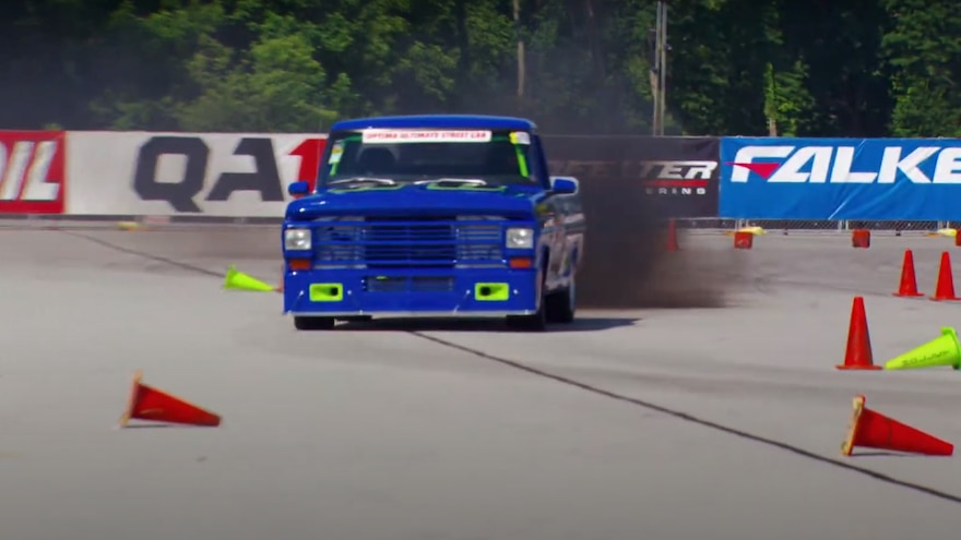 This Diesel-Powered Budget-Build Ford F-100 Race Truck Is Also a Daily Driver
