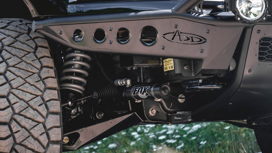 Mil Spec Supercharged F 150 Chassis Close Up