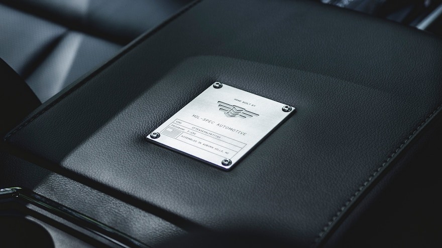 Mil Spec Supercharged F 150 Interior Middle Console Close Up