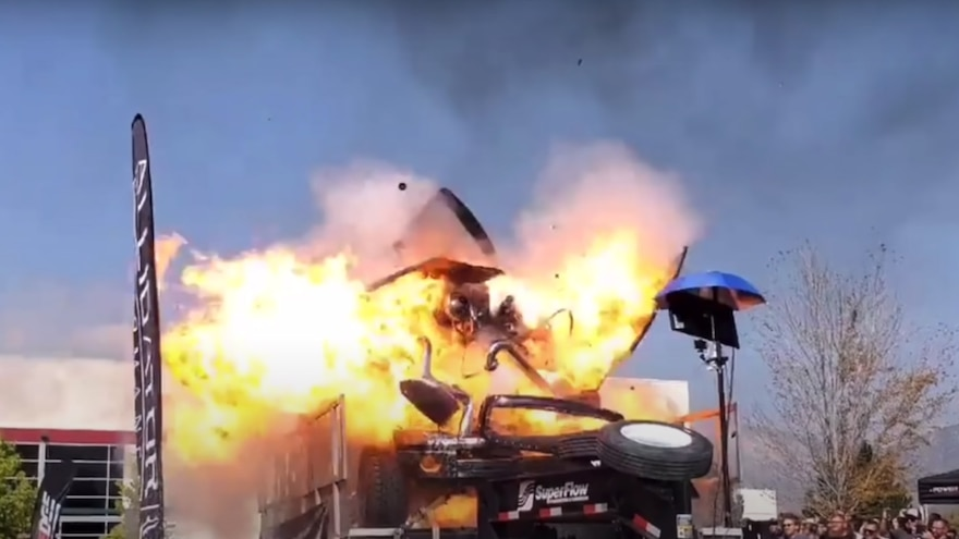 PHOTOS: 3,000-HP Dodge Truck Explodes During Dyno Pull