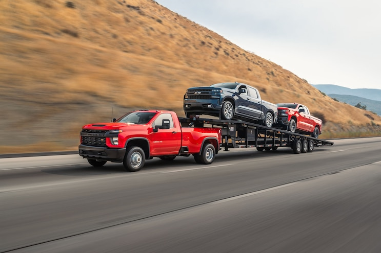 001b Towing Heavy With 2020 Chevrolet Silverado 3500hd Dually