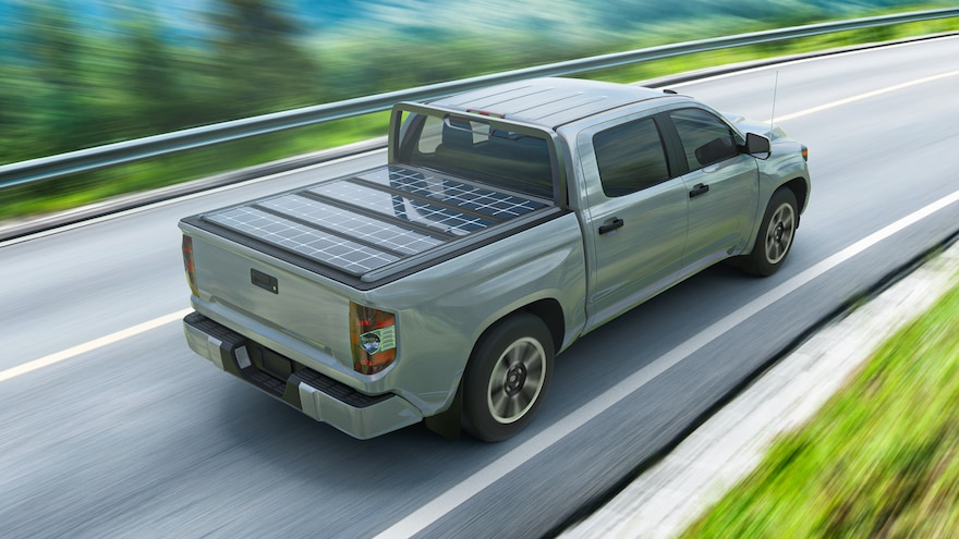 Worksport Terravis Solar Tonneau Cover Truck Bed Power System