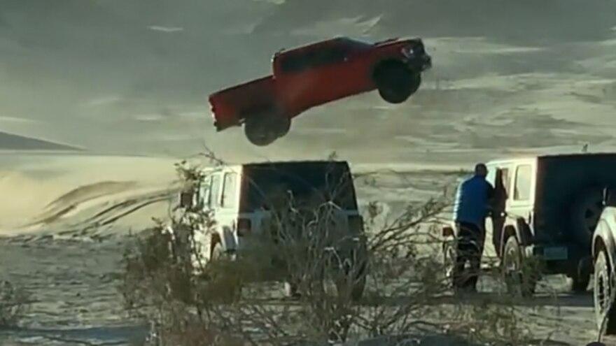 2021 Ford F150 Raptor Full Send Huck Jump 5 1