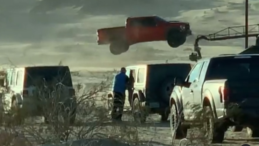 2021 Ford F150 Raptor Full Send Huck Jump 6