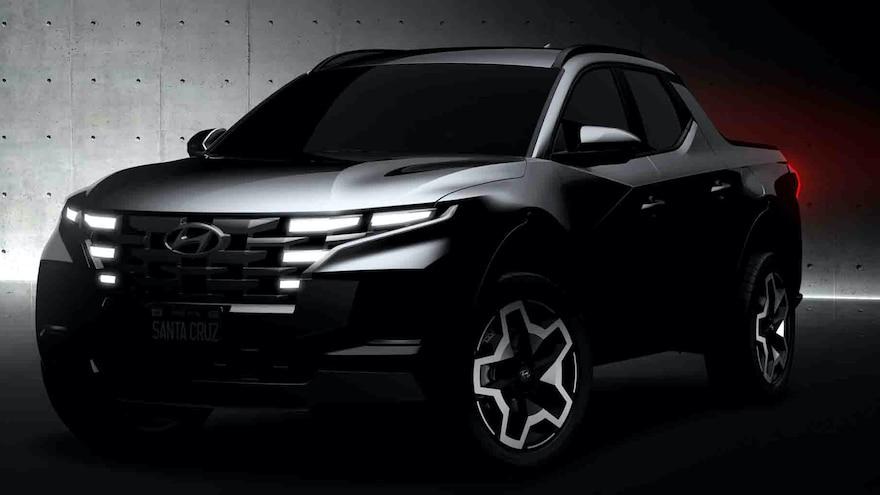 Hyundai Teases Its New 2022 Santa Cruz Sport Adventure Vehicle