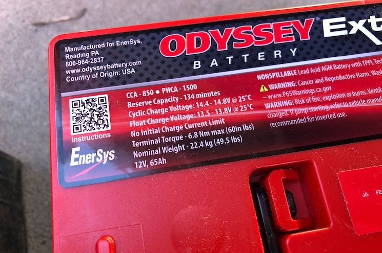 004 Odyssey Extreme Series Agm Battery
