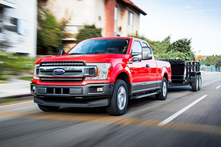 2018 Ford F 150 Power Stroke Diesel Exterior Front Three Quarter Towing 2