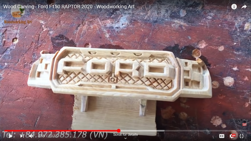 Wood Carving Woodworking Art 2020 Ford F150 Raptor 15