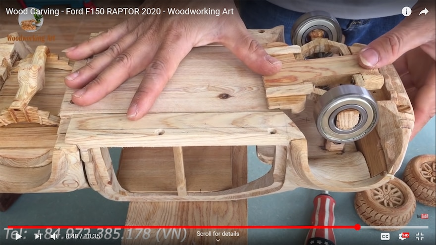Wood Carving Woodworking Art 2020 Ford F150 Raptor 28