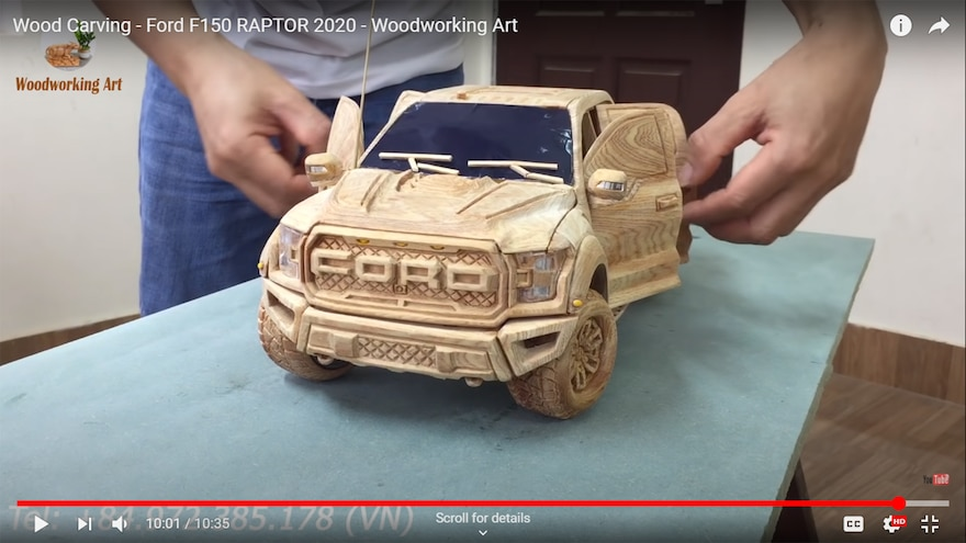 Wood Carving Woodworking Art 2020 Ford F150 Raptor 31